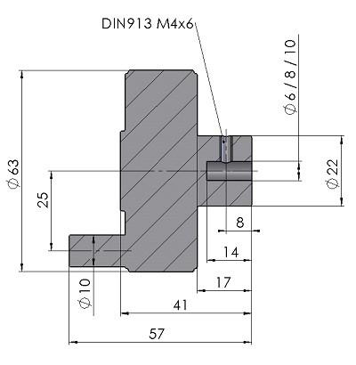 Handkurbel HK30-Massblatt-mini