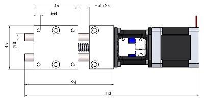 Massblatt Motorpositioniertisch MPT2408-AK-M