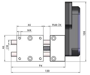 Massblatt Positioniertisch kurz MPT2408-AS-B