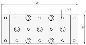 Abmessungen der Montageplatte MP4808