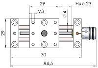 Positioniertisch PT2304-Massblatt-mini